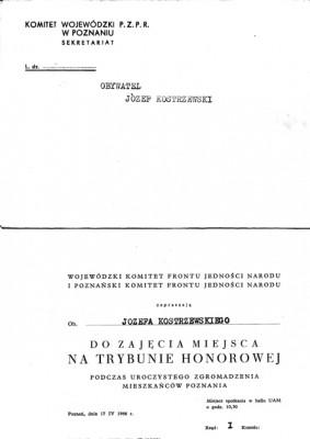 1966 ZAPROSZENIE KW FJN