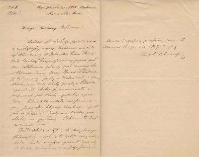 List Rafała Kalinowskiego